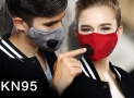 Pollution Mask Military Grade N99 Anti Dust+2 Filters Washable Cotton Respirator with Adjustable Ear Strap/Allergy/Cycling/Running/Hiking/Painting/Cleaning/Construction (Men-Black)