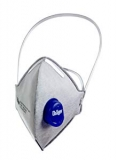 Dräger X-plore 1710 Odour FFP2 | 10 Pack | Flat-folded Disposable Dust mask with exhalation valve & Odour Removal | Certified AS/NZS 1716