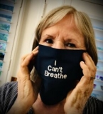 FACE MASK -I CANT BREATHE- DELUXE- 100% COTTON!! W/POUCH W/ANTI-VIRAL INSERT!!! Handmade