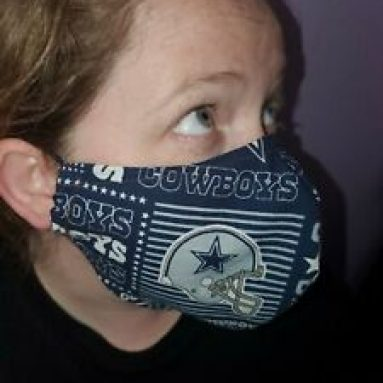 Homemade Fabric Reusable Face Mask washable Dallas Cowboys SHIPS SAME DAY