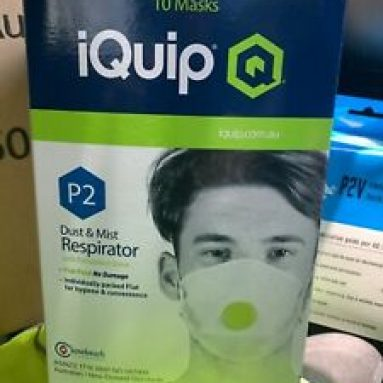 IQUIP p2 dust mask WITH exhalation valve