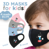 Kids Face Mask Cat 4 Pack Cover Washable Reusable Protection Breathable