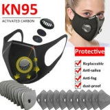 Reusable Sports Face Cover W/Valve & 3/4/5Layers Insert Filter Outdoor Protect Unbranded
