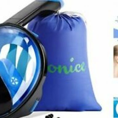 Snorkel Mask Full Face for Adults and Kids,Dry Top System Safe S/M Black&Blue Does Not Apply