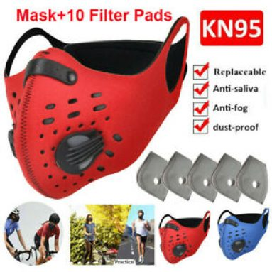 Washable Reusable Sport Face Mask Replaceable 3/4/5 Layer Filter Pads Set Shield Unbranded